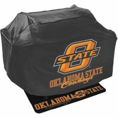 Mr. Bar-B-Q NCAA Grill Cover and Grill Mat Set, Oklahoma State Cowboys