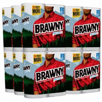 Brawny Paper Towels, 24 Giant Rolls, Pick-A-Size, White