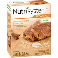 Nutrisystem Cinnamon Raisin Baked Bars, 1.5 oz, 4 count