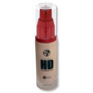 W7 HD 12 HR Liquid Foundation, Pump - Natural Beige, 30ml/1.01fl oz