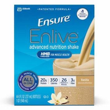 Ensure Enlive Advanced Nutrition Shake, Vanilla, 8 fl oz (4-4 Packs)