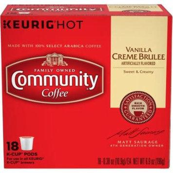 Community Coffee Vanilla Creme Brulee, 0.38 oz, 18 count