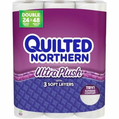 Quilted Northern Ultra Plush Double Rolls Toilet Paper, 165 sheets, 24 rolls