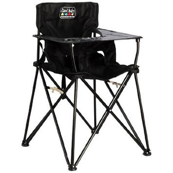 ciao! Baby Portable High Chair, Black,