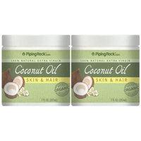 Coconut Oil 100% Natural for Skin & Hair 2 Jars x 7 oz (207 mL)