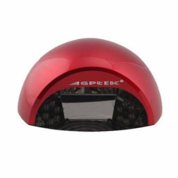 AGPtek Professional Beauty Care 18W LED UV Gel Nail Dryer Harmless to Eyes for Curing Gel Nail and UV Top Coats - Red