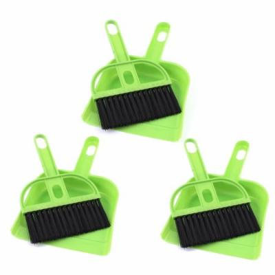 Dashboard Console Vent Air Outlet Cleaning Brush Broom Dustpan Green 3 Sets