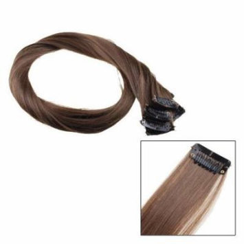 AGPtek 22 Inch Full Head Long Straight 8 Piece Hair Extension Clip-on Hairpieces with Clips For Fashion Women (Brown)