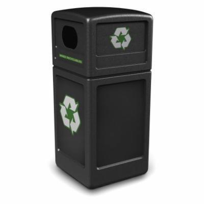Commercial Zone Recycler 38 Gallon Black Recycling Bin