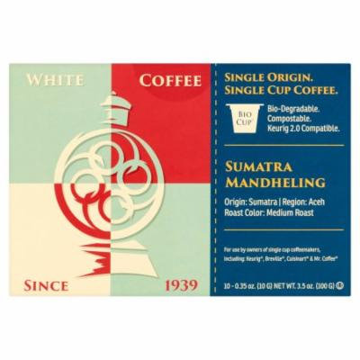 White Coffee Bio-Degradable Single Serve Coffee 10 x 0.35oz (3.5oz)