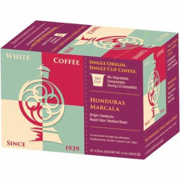 White Coffee Honduras Marcala Single Cup Coffee, .35 oz, 10 count