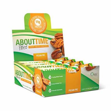 SDC Nutrition About Time Fruit Nut and Protein Bar, Pecan Pie, 12 Count
