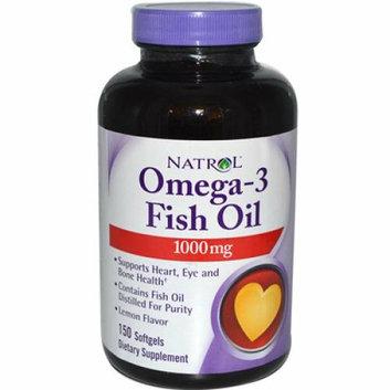 Natrol Omega-3 Fish Oil Lemon 1000 mg 150 Softgels