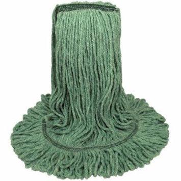 Boardwalk Premium Standard Cotton & Rayon Fiber Mop Head, Medium, Green