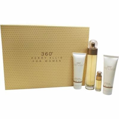 Perry Ellis 360 for Women Gift Set, 4 pc