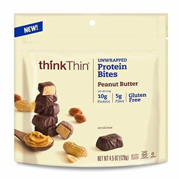 thinkThin Protein Bites, Peanut Butter, 4.5 Ounce (Pack of 6)