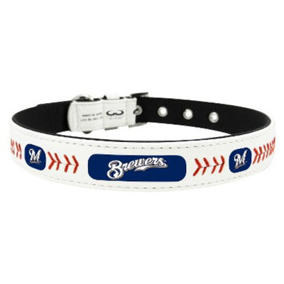 GameWear Milwaukee Brewers Classic Leather Medium Baseball Collar
