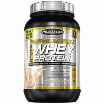 MuscleTech Premium Gold Vanilla Ice Cream Whey Protein Dietary Supplement, 72 oz