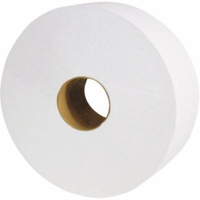 Cascades North River Jumbo 2-Ply White Roll Tissue Rolls, 6 count