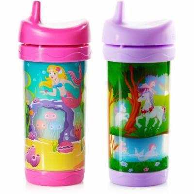 Evenflo Feeding Sip and Seek Insulated 10-oz Cup, Girl, 2pk