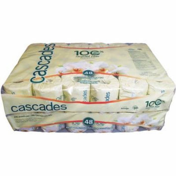 Cascades Standard 2-Ply Bathroom Tissues, White, 336 sheets, 48 rolls