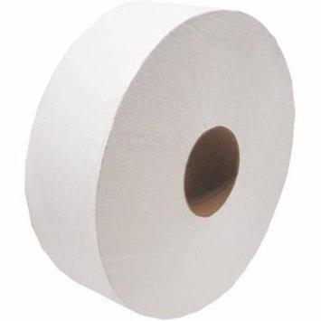 Cascades Decor Jumbo 1-Ply Toilet Paper, White, 12 rolls