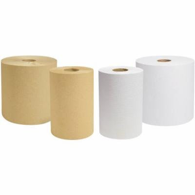 Cascades Decor Hardwound Roll Towels, White, 12 countt