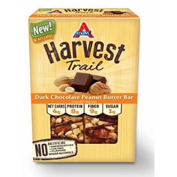 Atkins Harvest Trail Bars, Dark Chocolate Peanut Butter, 1.3 Ounce (Pack of 9)