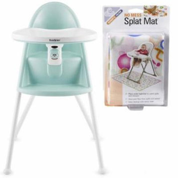 Baby Bjorn 067085USKT High Chair With Splat Mat - Light Green