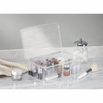 InterDesign Clarity Lipstick and Cosmetic Organizer with Lid, Clear