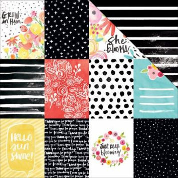 Illustrated Faith She Blooms Cardstock 12