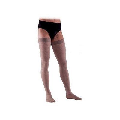 Sigvaris 860 Select Comfort Series 20-30 mmHg Men's Closed Toe Thigh High Sock Size: S1, Color: Khaki 30
