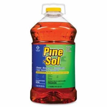 Pine-Sol Multi-Surface Cleaner - Liquid Solution - 144 fl oz (4.5 quart) - 3 / Carton - Pine Scent - Brown CLO35418CT