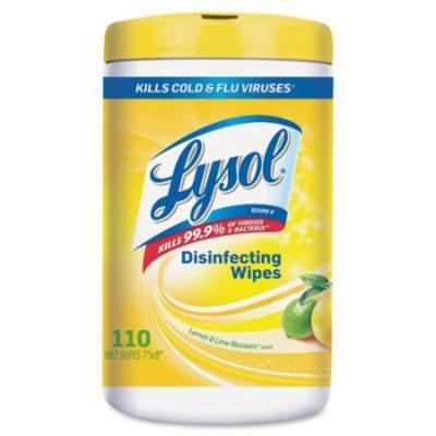 Sanitizing Wipes, 110 Wipes/Tub, 6/CT, Lemon/Lime Blossom RAC78849CT