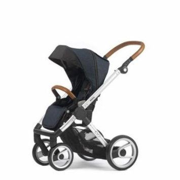 Mutsy Evo Industrial Edition Stroller - blue with silver chassis
