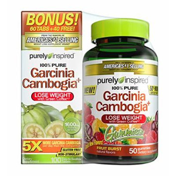 Purely Inspired Garcinia Cambogia, 50 gummies and 100 tablets