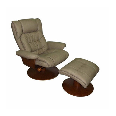 Mac Motion Oslo Swivel Recliner And Ottoman