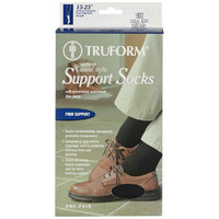 Truform Men's Casual Over-the-Calf Firm (15-20 mm) Support Socks SM