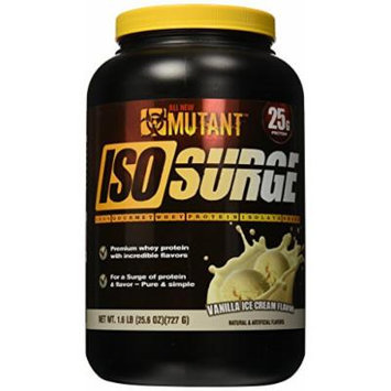 Mutant Iso Surge Protein Isolate Powder, Vanilla Ice Cream, 1.6 Pound