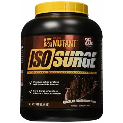 Mutant Isosurge Whey Isolate Protein Powder, Chocolate Fudge Brownie, 5 Pound