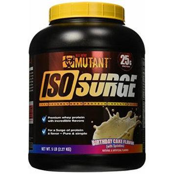 Mutant Isosurge Whey Isolate Protein Powder, Birthday Cake, 5 Pound