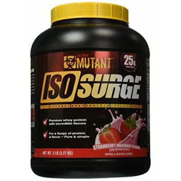 Mutant Isosurge Whey Isolate Protein Powder, Strawberry Milkshake, 5 Pound