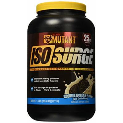 Mutant Iso Surge Protein Isolate Powder, Cookies & Cream, 1.6 Pound