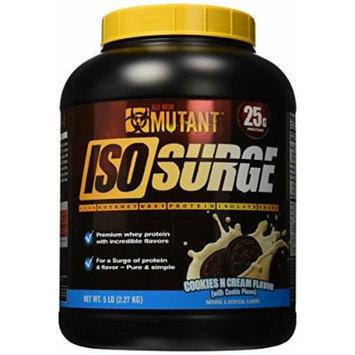 Mutant Isosurge Whey Isolate Protein Powder, Cookies/Cream, 5 Pound