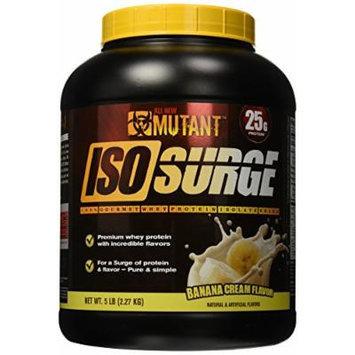 Mutant Isosurge Whey Isolate Protein Powder, Banana Cream, 5 Pound