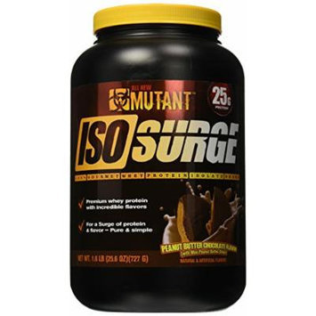 Mutant Iso Surge Protein Isolate Powder, Peanut Butter Chocolate, 1.6 Pound