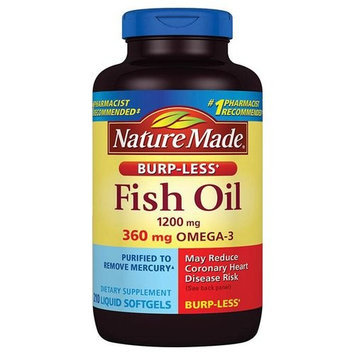 Nature Made Fish Oil Dietary Supplement Softgels, 1200mg, 210 count