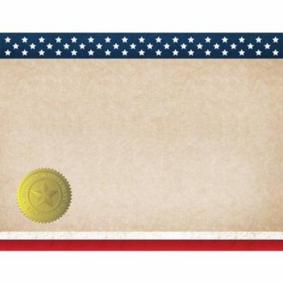 Patriotic Certificate, 25-Count