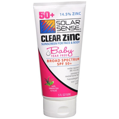 Solar Sense Clear Zinc Face & Body Lotion for Baby