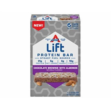 Lift Protein Bar, Chocolate Brownie with Almonds, 60 Gram (Pack of 24)